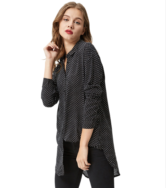 Women Polka Dot Blouse -Women Blouse
