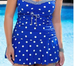 Women Print Dot Swimsuit -Women Swimsuits