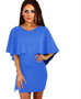 Women Ruffles Cape Dress -dresses