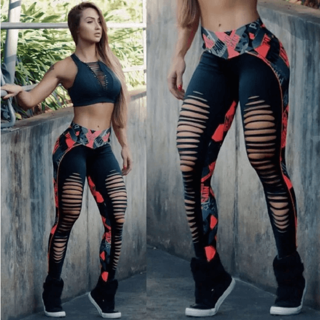 Women Sexy Hollow Out Leggings -Women Yoga Pants