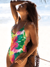 Women Sexy Leaf Print Swimsuit -Women Swimsuits