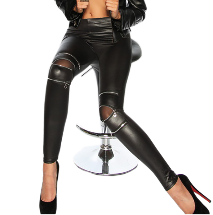Women Sexy Leather Leggings