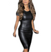 Women Sexy Leather Party Dress -Women Dress