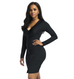 Women Sexy V-Neck Sheath Dress -women dresses