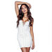 Women Sexy White Khaki Dress -women dress