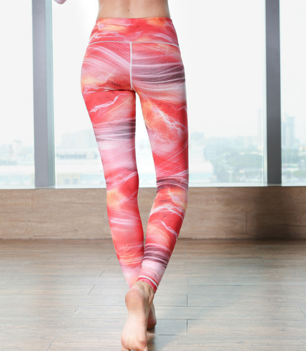 Women Snowflake Print Leggings -Yoga Pants
