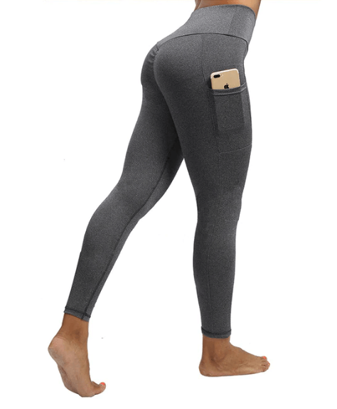 Women Solid Color Pocket Leggings -women leggings