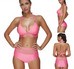 Women Solid Pink Swimsuit -women swimsuits