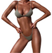Women Solid Top Thong Swimsuit -women swimsuits