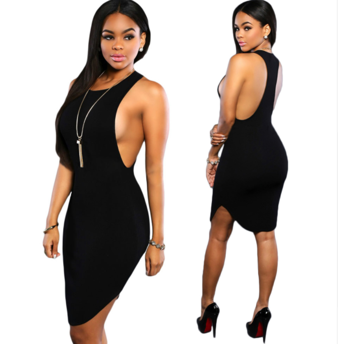 Women Split Side Dress -Women Dress