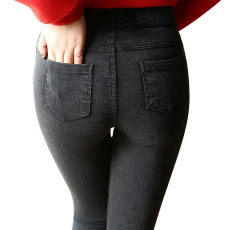 Women Stretch Denim Leggings -Yoga Pants