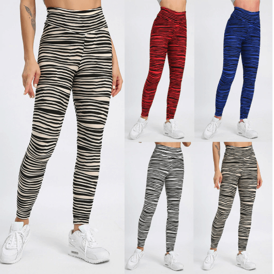 Women Stripe Printing Leggings -women leggings