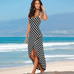 Women Striped Beach Dress -women dresses