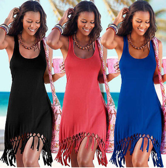 Women Tassels Beach Dress -dresses