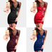 Women V Neck Cross Dress -women dresses