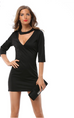 Women Vintage V-Neck Dress -dresses