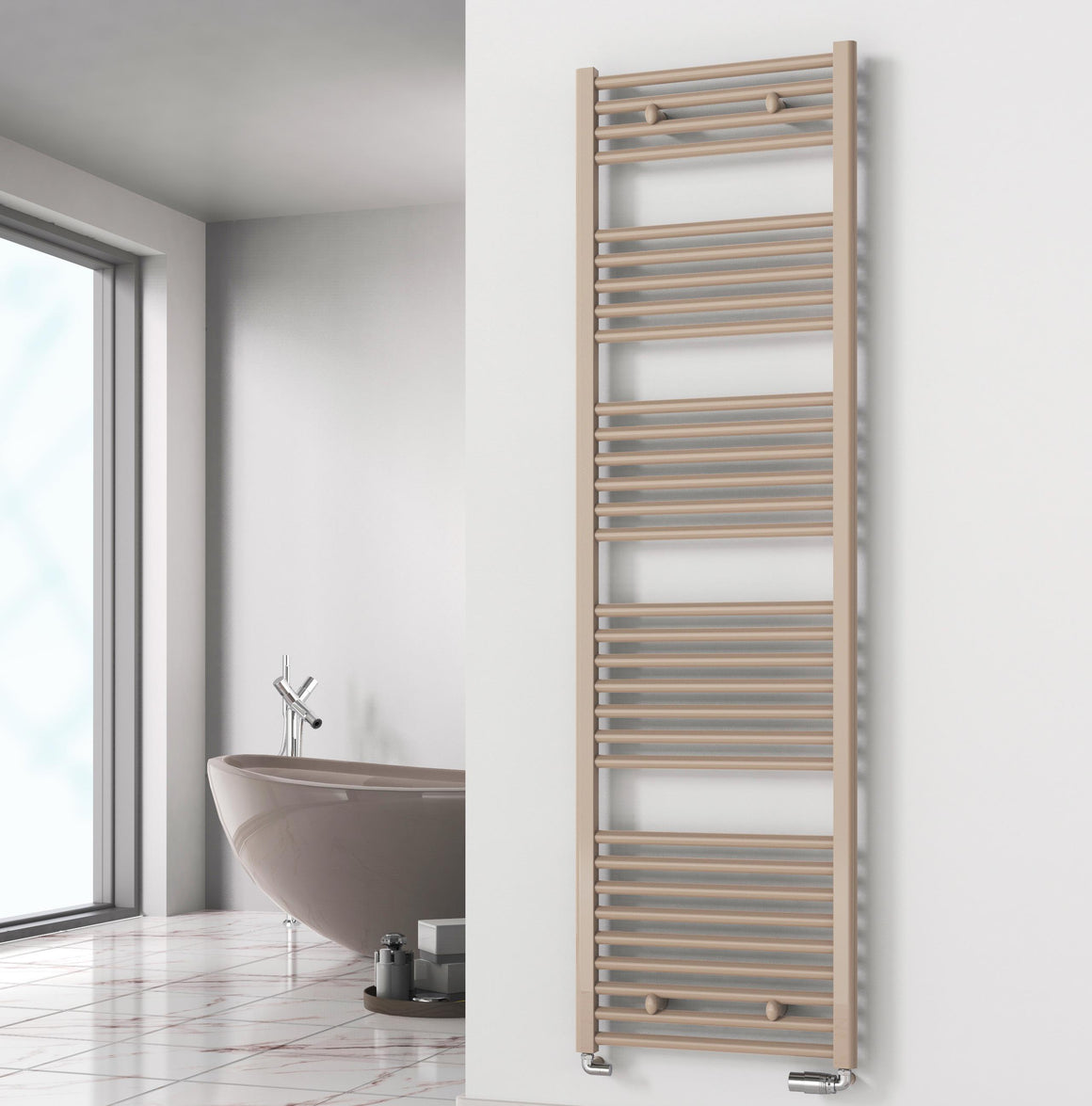 Diva Flat Heated Towel Rail - Electric