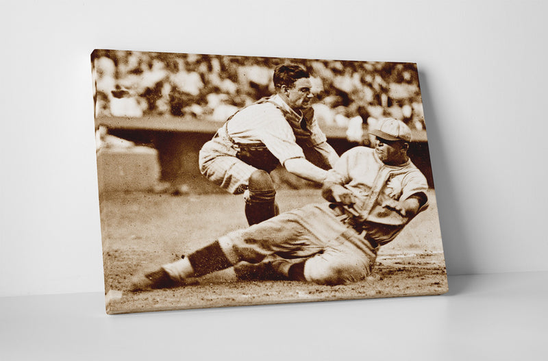 Muddy Ruel Tagging Out Bing Miller at Home, 1925