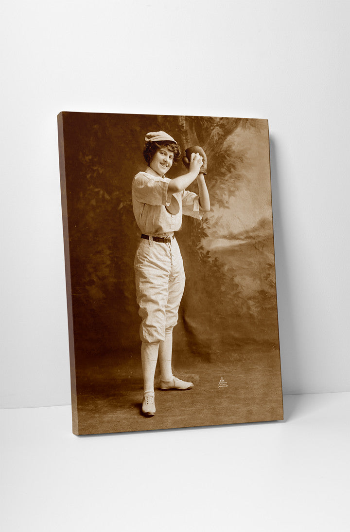 Female Baseball Player, 1913