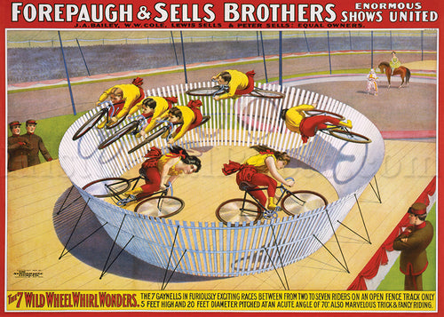 Forepaugh & Sells Bros., 7 Wild Wheel Whirl Wonders
