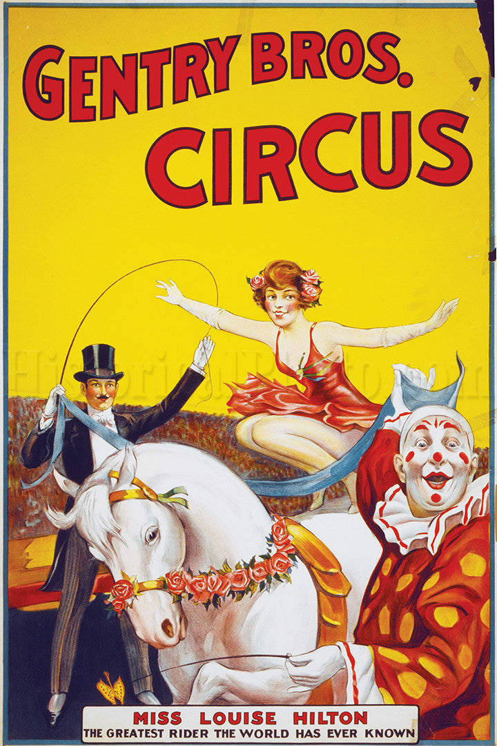 Gentry Bros. Circus: Miss Louise Hilton