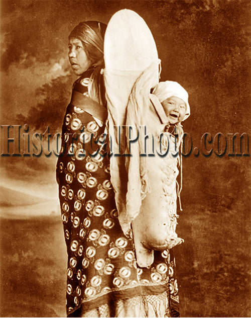 Blackfoot Woman and Child