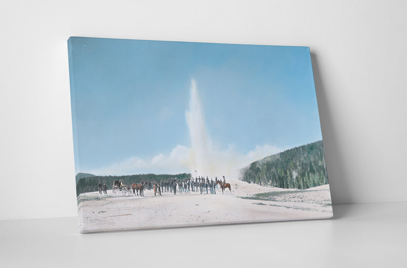 Company D at Old Faithful Geyser