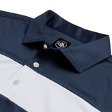 COTTESLOE CHEST STRIPE POLO SHIRT | NAVY/WHITE