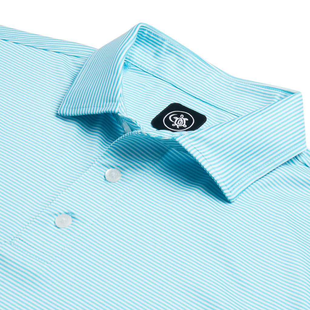 FIFE FEEDER STRIPE POLO SHIRT | BLUE/WHITE