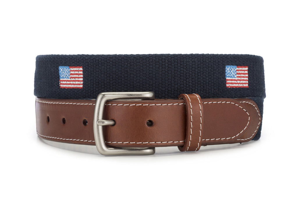 American Flag Belt (Navy Blue)