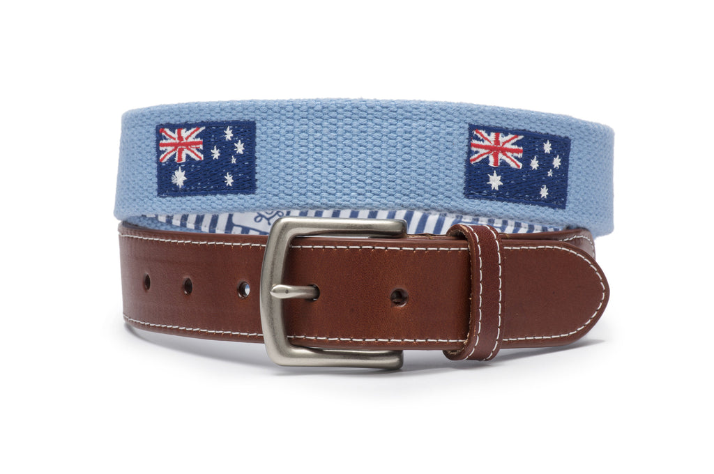 Australian Flag Belt (Sky Blue)