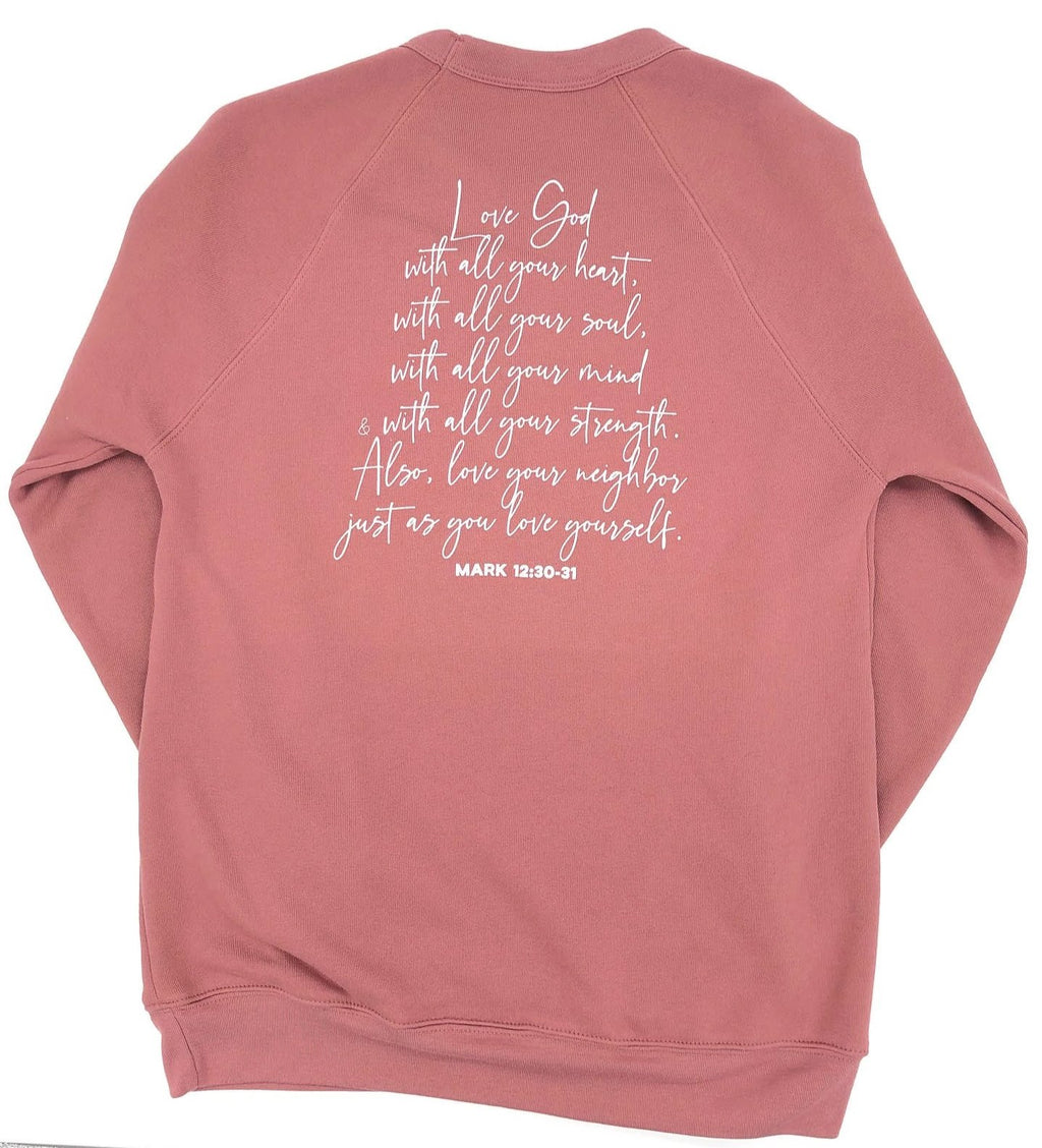 Love God Sweater - Mauve
