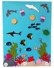 EXCLUSIVE! Under the Sea Felt Wall Set with Expansion Set included! - Preschool Educational Supply - KTOriginals