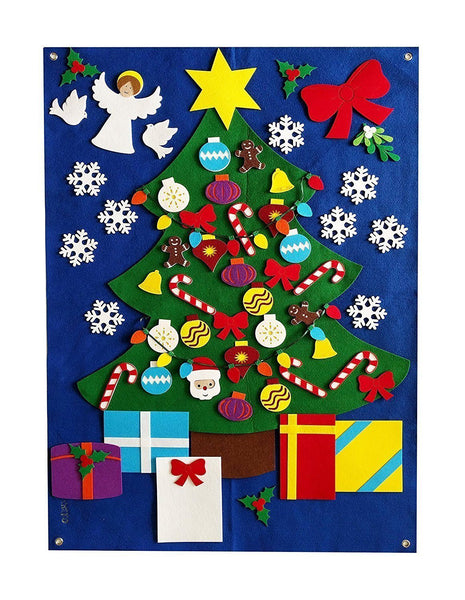 Christmas Tree Felt Wall Set - Deluxe - Preschool Educational Supply - KTOriginals