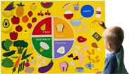 My Healthy Nutrition Plate Felt Wall Set - Preschool Educational Supply - KTOriginals