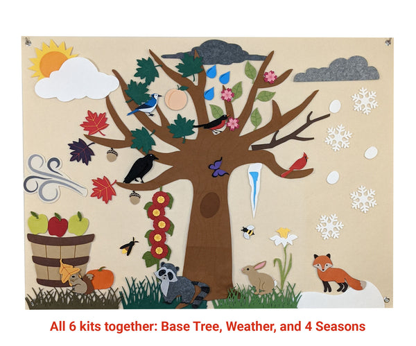 Four Seasons and Weather Seasonal Tree Set