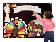 Thanksgiving Turkey & Cornucopia Felt Wall Set - Preschool Educational Supply - KTOriginals