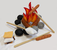 Campfire & S'mores 3D Interactive Play Set - Preschool Educational Supply - KTOriginals