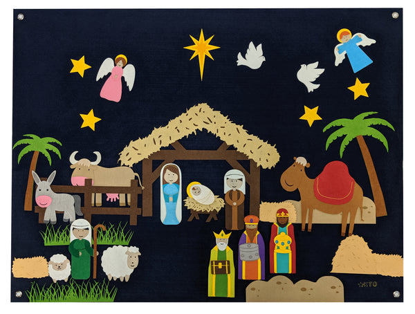 Nativity Wall Felt - Preschool Educational Supply - KTOriginals