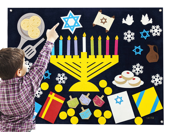 Hanukkah Felt Wall Set - Preschool Educational Supply - KTOriginals