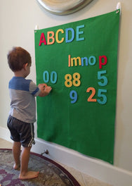Deluxe Letters & Numbers Felt Wall Set - Preschool Educational Supply - KTOriginals