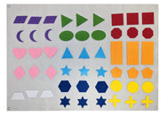 Deluxe Shapes and Colors Wall Felt - Preschool Educational Supply - KTOriginals