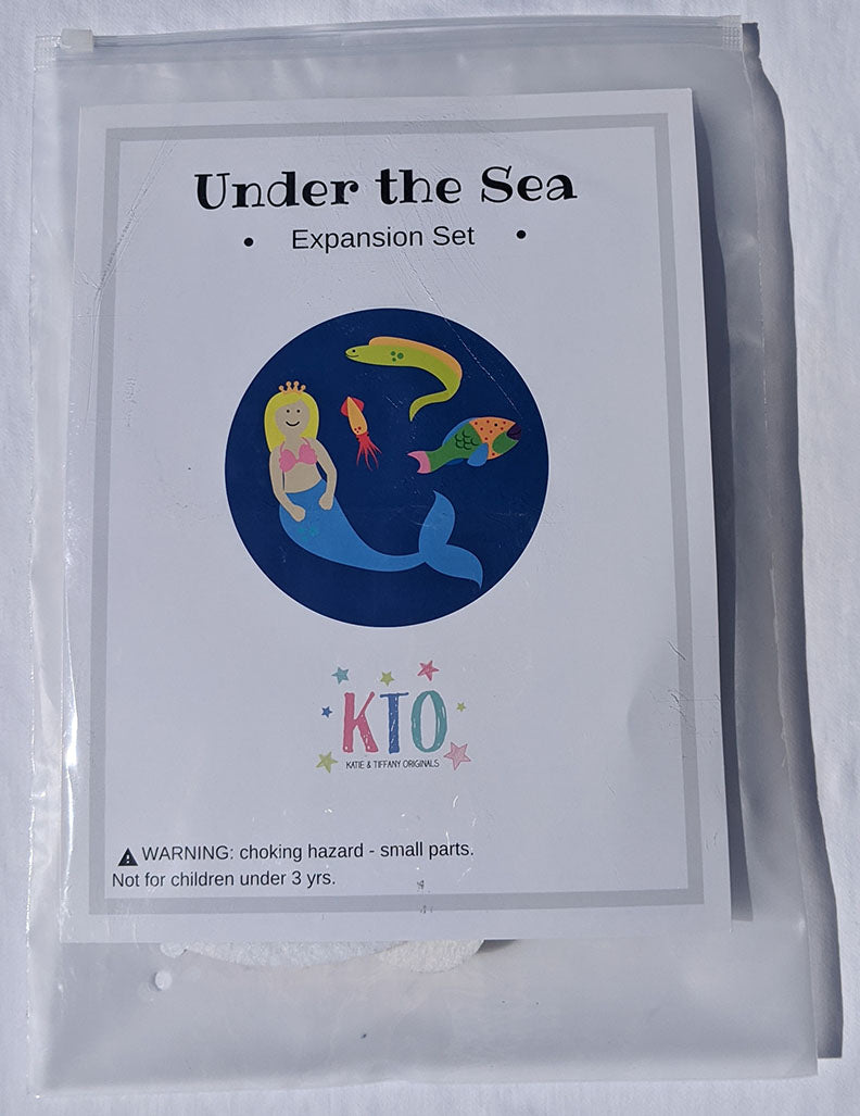 Expansion Set: Under the Sea - Extra Characters for extended play - Preschool Educational Supply - KTOriginals