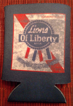 Lions of Liberty Beer Koozie