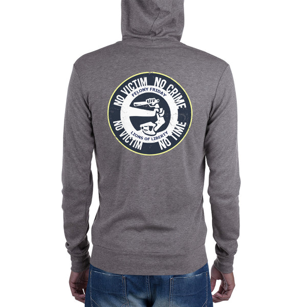 Felony Friday - No Victim, No Crime - Zip Hoodie