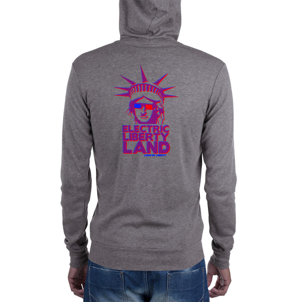 Electric Liberty Land Zip Hoodie