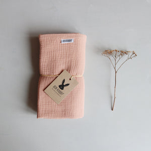 Dusty Pink Muslin Blanket