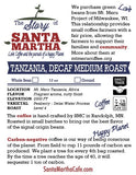 Tanzanian - Decaf Medium Roast