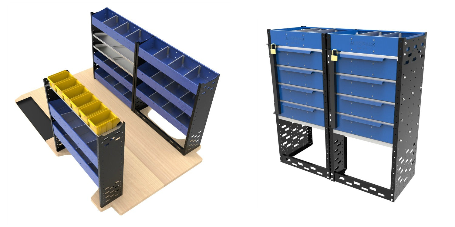 Autorack Heavy-Duty Vab Racking Units and Van Racking Drawer Units