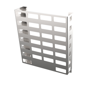 Stainless Steel - VERTICAL WALL MOUNTED BASKET